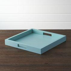 Zuma Aqua Sky Tray - Crate and Barrel