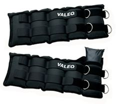 Valeo AW20 Adjustable Ankle / Wrist Weights (10-Pounds Each, 20-Pound Total) by Valeo. $39.99. Amazon.com                Add intensity to your workout with the Valeo AW20 Adjustable Ankle and Wrist Weights. An ideal way to build strength while walking, stepping, or during other low-impact aerobic exercises, the Valeo ankle and wrist weights allow you to incorporate weight-resistance training into everyday activities. Wearing the weights on your wrists can develop upper body str...