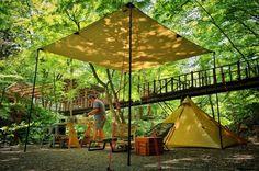 道志の森 Camping 101, Outdoor Camping, Book Cafe, Glamping, Safari, Tent, Architecture Design, Patio, Outdoors