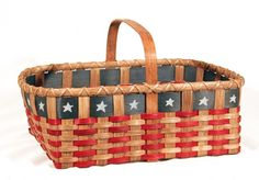 June's Free Basket Weaving Pattern ~ the Patriot Market Basket