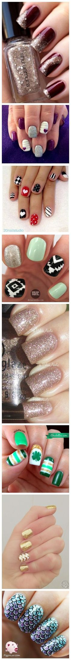 Nail Art Designs - Get Creative Nail Design, Nail Art, Nail Salon, Irvine, Newpo. Nail Art Diy, Easy Nail Art, Diy Nails, Cute Nails, Pretty Nails, Fingernail Designs, Nail Polish Designs, Acrylic Nail Designs, Fabulous Nails