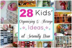Kids' Toy Organization and Storage