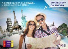 Estas vacaciones lleva contigo tu nutrición esencial con Shake Me On The Go. Práctica presentación en sobres.  Aquiérelo aquí: www.vivri.com/CristyEC