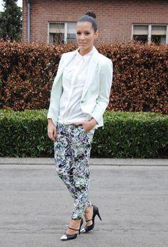 Another day like this.  #fashion #style #outfit  #look , Zara en Blazers, H&M en Camisas / Blusas, Zara en Pantalones, Nowhere en Tacones / Plataformas