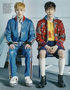Xiumin, Suho - 170321 Vogue magazine, April 2017 issue - [SCAN][HQ] Credit: 란초.