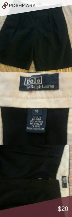 "YOUNG MENS/ MENS SHORTS,  RALPH LAUREN YOUNG MENS SIZE 18, DARK BLUE ""RALPH LAUREN POLO "" CLASSIC CHINO, WORN ONCE,  WILL FIT MEN  SIZE 28/29 WAIST RALPH LAUREN POLO Shorts"