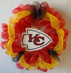 Kansas city chiefs kansas city and deco mesh wreaths on - Longwell green swimming pool times ...