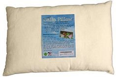 Toddler Pillow Hypoallergenic US Organic Cotton 3 Year Guarantee Safe Sleeping
