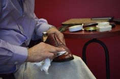 polishing shoes MensShoes #MensFashion #Alden #Aldenshoes #HandmadeShoes #MensFashion  #AHOneShoes GazianoGirling #Paraboot #HandmadeShoes #MensShoes #MensFashion If you have any questions or comments we'd love to help. Contact AH One Shoes at 703-451-0540 or ahoneshoes@aol.com