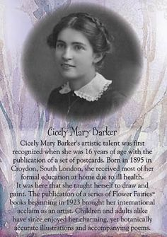Cicely Mary Barker author and illustrator of Flower Fairies books. Cicely Mary Barker, Flower Fairies, Flower Art, Magazine Illustration, Children's Book Illustration, Vintage Children's Books, Fairy Art, Conte, Faeries