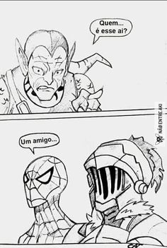 Tagged with funny, memes, anime, dank memes, goblin slayer; Spidermans new friend Marvel Funny, Marvel Memes, Funny Comics, Anime Meme, Goblin Slayer Meme, Funny Images, Funny Pictures, Nerd, Green Goblin