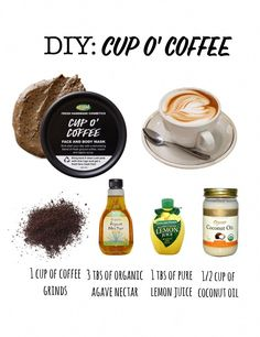 Lush Cup o' Coffee mask! Super simple to make and rocks for exfoliating DIY Lush Cup o' Coffee mask! Super simple to make and rocks for exfoliatingDIY Lush Cup o' Coffee mask! Super simple to make and rocks for exfoliating Homemade Face Masks, Homemade Skin Care, Diy Skin Care, Skin Care Tips, Skin Tips, Homemade Beauty, Lush Cup O Coffee, Coffee Scrub, Easy Coffee