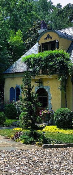 """Leo designed this Country French Guest cottage. Leo's signature touch is """"A Dusting Of The Centuries""""."""