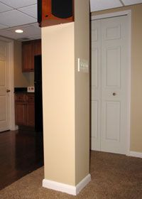 instructions on how to make a basement support pole into a column