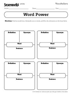 Best free vocabulary graphic organizers graphic organizers quick and easy vocabulary activity use it with any text storyworks ibookread PDF