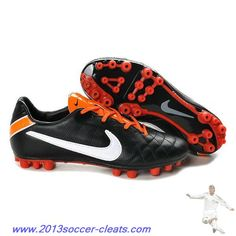 new style 743eb c24f7 2013 Nike Tiempo Mystic IV AG Black White Orange For Sale Nike Soccer Shoes,  Cheap