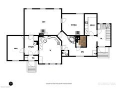 134m² Asematie 5, 21530 Paimio Puutalo-osake 3h myynnissä | Oikotie 13572909 Osaka, Floor Plans, Diagram, Floor Plan Drawing, House Floor Plans