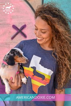 c9d79bc7 Our Texas State Doxie tee with a retro spin is perfect for any Texas and  Dachshund. American Doxie