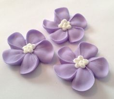 LOT of 100 Royal Icing flowers for Cake Decorating Sugar Flowers on Etsy, $10.00