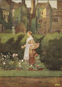 "Eleanor Fortescue-Brickdale ""There is a Garden in Her Face"" c.1920"