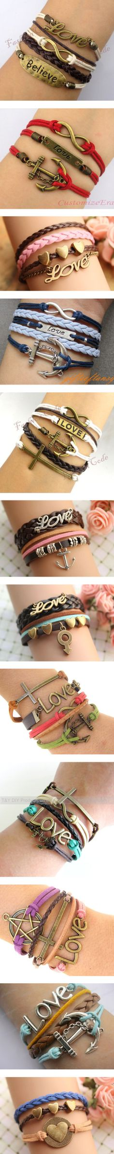 Bracelets love love love! These are sooo cute!