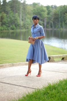 Perfectly Flawless Boutique — YASSS DENIM DRESS