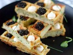 Fingers de gaufres à la pomme de terre au caviar • Hellocoton.fr