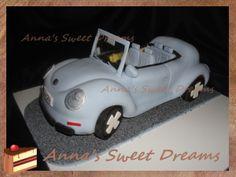Торт Автомобиль Volkswagen beatle cake tutorial