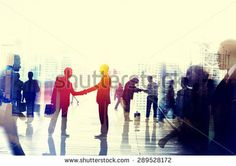 Business People Talking Connection Conversation Concept - stock photo