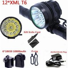 [ 36% OFF ] 12T6 Led Bicycle Light Cycling Bike Front Light 2 In 1 Headlamp Headlight 22000Lm 12 X Xm-L T6 Head Lamp + 10800Mah Battery Pack
