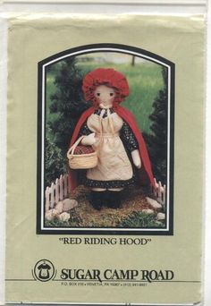 Amazon.com: Red Riding Hood Stuffed Doll Sewing Pattern: Arts, Crafts & Sewing