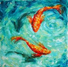 66 ideas painting acrylic sea inspiration 66 ideas painting acrylic sea inspirationYou can find Painting inspiration and more on our ideas painting acrylic sea in. Art Sketches, Art Drawings, Fish Drawings, Koi Painting, Gold Fish Painting, Finger Painting, Painting Flowers, Acrilic Paintings, Acrylic Art Paintings