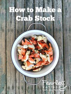 Crab stock is a richly flavored stock that can be used as a base in all sorts of seafood soups but especially ones like crab bisque and crab chowder. Learn how to do it with a simple video demo! Lobster Trap, Crab Bisque, Lobster Bisque, Jonah Crab, Making Bone Broth, Crab Chowder, Seafood Soup Recipes, Pork Meatballs