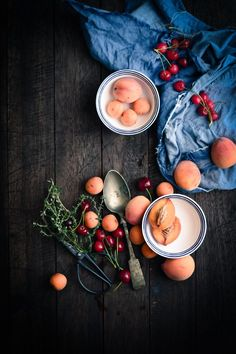 Peach, Apricot and Thyme Ice cream