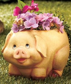 Chubby Animal Planter-Pig