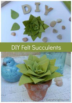 DIY Felt Succulents by Kim Layton