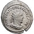GALLIENUS & his father VALERIAN I 255AD Rare Ancient Silver Roman Coin i23524