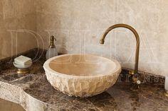 Bathroom Collection Sink | Zurich Classic Travertine Sink (DLT 618P)