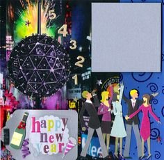 New Years scrapbook layout: Happy New Year - Scrapbook.com