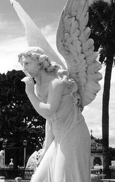 Cemetery Angel, Costa Rica ~ love the hair Cemetery Angels, Cemetery Statues, Cemetery Art, Angel Statues, Turn To Stone, Angel Sculpture, Angel Prayers, I Believe In Angels, Garden Angels