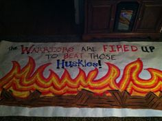 Run through banner- Warrior Vs. Huskies!