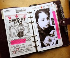 Turn your old planner into a quirky art journal. Awesome sauce