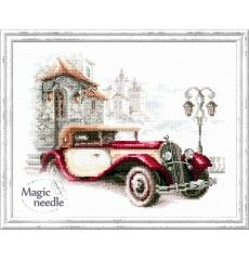 110-022 Ретро Кадилак Vintage Embroidery, Cross Stitch Embroidery, Embroidery Patterns, Hand Embroidery, Cute Cross Stitch, Counted Cross Stitch Kits, Cadillac, Needlepoint Kits, Retro Cars