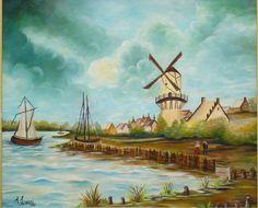 Quadro � �leo - Holanda Moinho