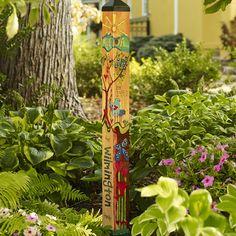 New 4' custom family garden art pole