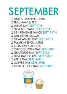 Free September Life List – The Glam Shop