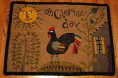 'Oh Glorious Day' rug; designed by Lori Brechlin, hooked by Karen Buchheit 2010