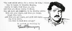 ernest hemingway writing - Google Search