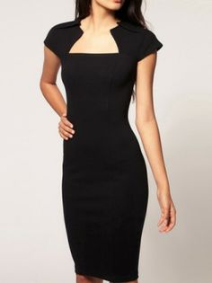 Ol Style Knee Length Bodycon Dress Sophisticated - PREPPY BEE