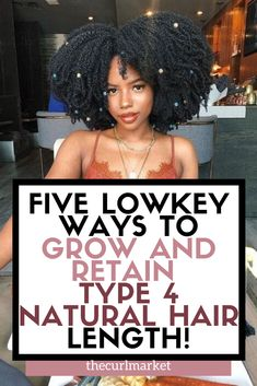 Struggling to grow long natural hair? Do you have Type 4 natural hair? Feeling overwhelmed with your natural hair care regimen? Type 4 natural hair needs a specific natural hair care plan to grow. care tips Natural Hair Growth Tips, Natural Hair Types, Best Natural Hair Products, Natural Hair Regimen, How To Grow Natural Hair, Long Natural Hair, Natural Haircare, Hair Growth Oil, Natural Hair Journey